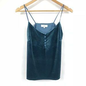 NSR Turquoise Velvet Cami Top